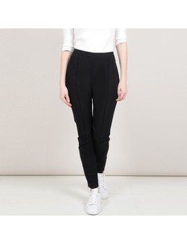 Slim Fit Trousers With Zips At The Hems by Molly Bracken