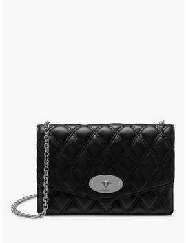 Mulberry Small Darley Quilted Smooth Calf Chain Clutch Bag, Black by Mulberry