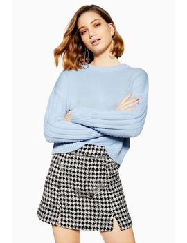 Ribbed Sleeve Detailed Jumper by Topshop