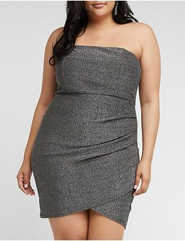 Plus Size Strapless Glitter Bodycon Dress by Charlotte Russe