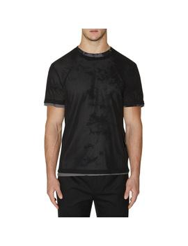 Mesh Logo T Shirt Black by Helmut Lang