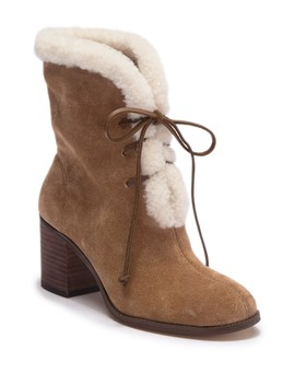 Cassidy Faux Fur Lace Up Boot by Splendid