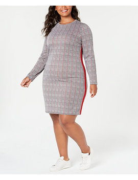 Trendy Plus Size Printed Bodycon Dress by Planet Gold