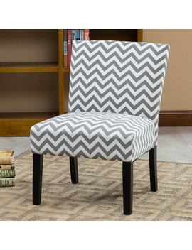 Roundhill Furniture Botticelli Chevron Armless Contemporary Accent Chair by Roundhill Furniture
