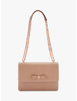 Ted Baker Joanaa Bow Leather Cross Body Bag, Taupe by Ted Baker