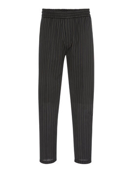 Striped Cotton Blend Trousers by Givenchy