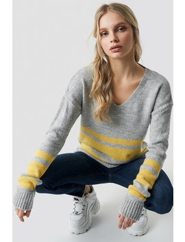 Arm Striped Knitted Sweater by Trendyol