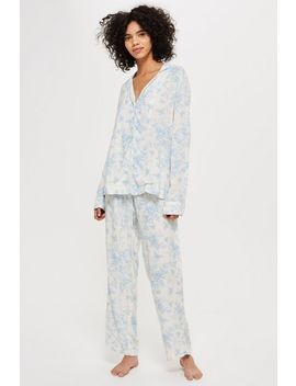 Printed Shirt And Trousers Pyjama Set by Topshop