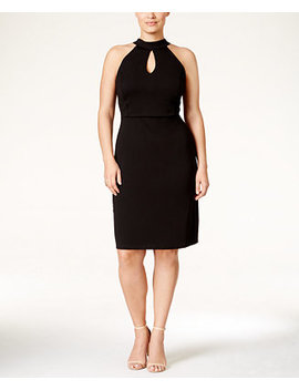 Plus Size Halter Cutout A Line Dress by Love Squared