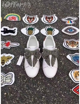 2017 Womens Men White Leather Diy Buckle Sneaker Loafer by I Offer
