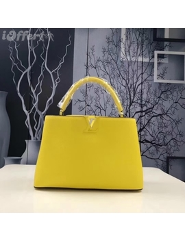 Yellow Designer Handbag M48870 Women's Leather Handbag by I Offer