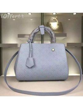 M41046, Original, Cowhide, Shoulder, Bag, Ight, Blue, H by I Offer