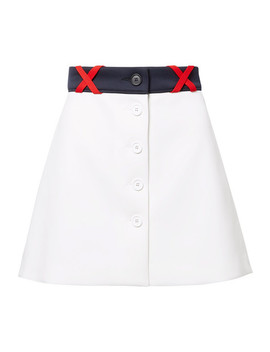 Ponte Mini Skirt by Miu Miu