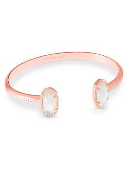 Elton Rose Gold Pinch Bracelet In Ivory Pearl by Kendra Scott