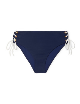 Carlisle Bay Laced Up Ribbed Bikini Briefs by Heidi Klein
