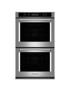 30 In. Double Electric Wall Oven Self Cleaning With Convection In Stainless Steel by Kitchen Aid
