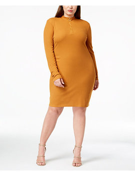Trendy Plus Size Mock Neck Dress by Planet Gold