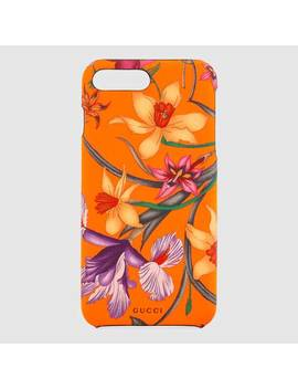 I Phone 8 Plus Case With Flora Print by Gucci