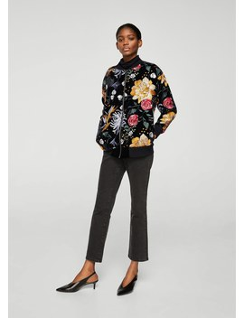 Floral Embroidered Jacket by Mango