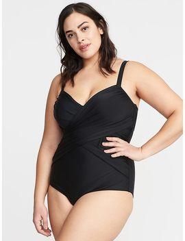 Wrap Front Secret Slim Plus Size Swimsuit by Old Navy