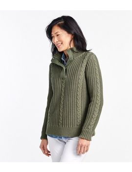 Rope Stitch Shaker Mockneck Henley by L.L.Bean