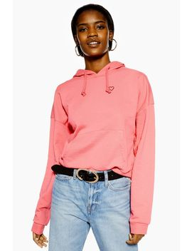 Tall Heart Outline Hoodie by Topshop