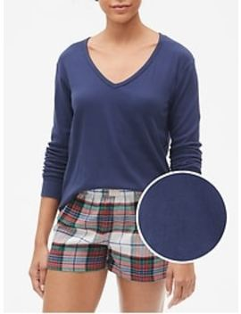 V Neck T Shirt In Modal by Gap