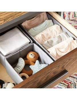 Canvas Grey Drawer Organizers by Crate&Barrel