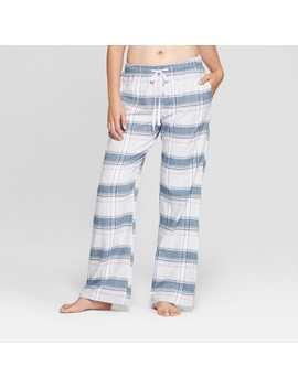 Women's Plaid Flannel Pajama Pants   Gilligan & O'malley™ Gray by Gilligan & O'malley