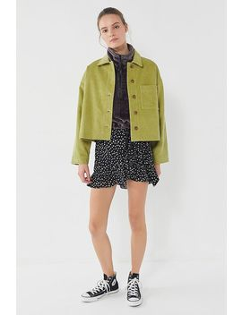 Uo Clark Green Corduroy Button Down Shirt Jacket by Urban Outfitters