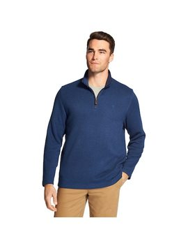 Men's Izod Classic Fit Sweater Fleece Quarter Zip Pullover by Kohl's