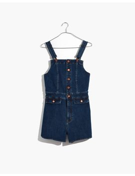 Denim Dolphin Hem Short Overalls by Madewell