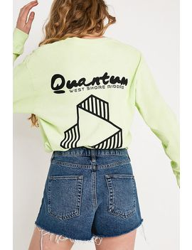 Uo Indigo Denim Mom Shorts by Urban Outfitters Shoppen