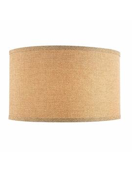 Linen Large Drum Lamp Shade With Spider Assembly   17 Inches Wide by Design Classics