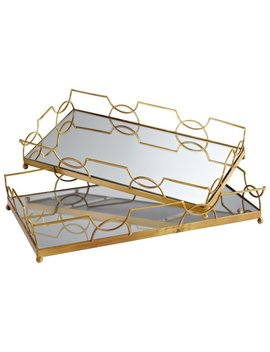 Cyan Design 2 Piece Nephrite Accent Tray Set & Reviews by Cyan Design