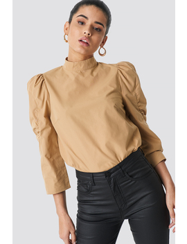 High Neck Puff Sleeve Blouse by Na Kd Trend