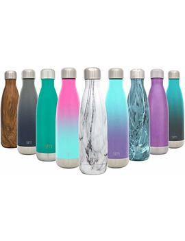 Simple Modern Wave Wasserflasche   Vakuum Isolierter Trinkflasche Doppelwandiger 18/8 Edelstahl   4 Größen In 26 Farben by Amazon