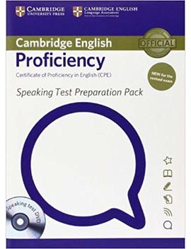 Speaking Test Preparation Pack For Cambridge English Proficiency For Updated Exam With Dvd by Amazon