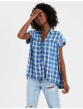Ae Short Sleeve Button Down by American Eagle Outfitters