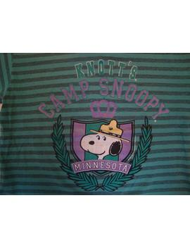Vintage 80's Knott's Camp Snoopy Peanut's Gang Cartoon Minnesota Striped T Shirt Size M by Etsy