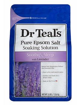 Dr Teal's Epsom Salt Soaking Solution, Soothe & Sleep, Lavender, 3lbs by Dr Teal's