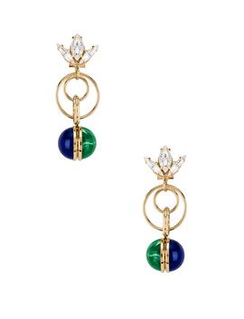 Tulip Double Ring Earrings by Anton Heunis