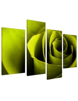 Large Lime Green Rose Floral Canvas Wall Art Pictures Prints Xl 4110 by Wallfillers