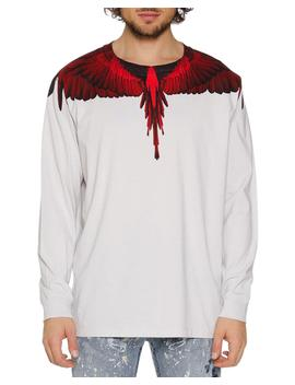 Men's Wings Graphic Long Sleeve T Shirt by Marcelo Burlon