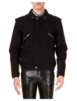 Men's Convertible Jean Jacket With Faux Shearling Lining by Givenchy