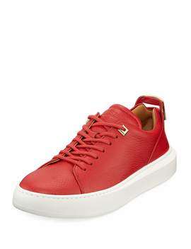 Men's 50mm Leather Low Top Sneakers by Buscemi