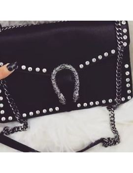 Womens Ladies Studded  Horse Shoe Diamante Chain Shoulder Strap Bag by Ebay Seller