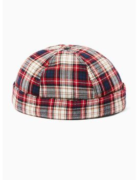 Red Check Docker Beanie by Topman