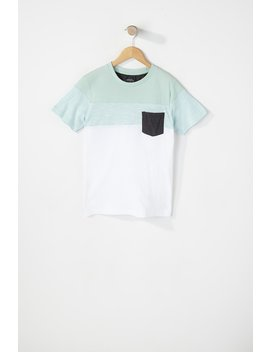 Boys Two Tone Patch Pocket T Shirt by Urban Planet