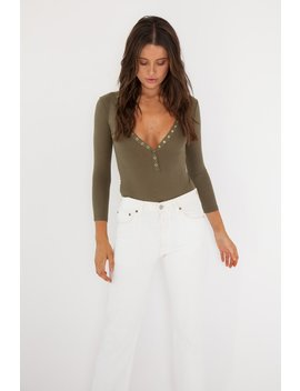 Sooki Bodysuit   Khaki by Style Addict